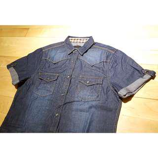 100% New I Lanne blue denim shirt