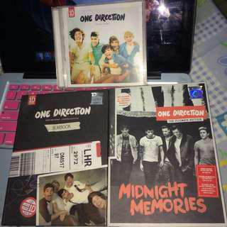 One Direction Albums - UP ALL NIGHT, TAKE ME HOME, MIDNIGHT MEMORIES