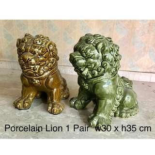 Porcelain Lion (1 Pair)