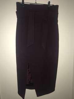 Maroon/Burgundy Pencil Skirt