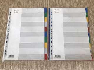 A4 Colours Plastic Divider (Bantex Denmark)