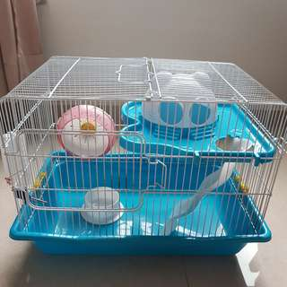 Turquoise Blue Hamster Cage