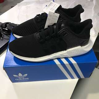 new styles ca81f 1f9ac Adidas EQT Support 9317 Black Milled Leather