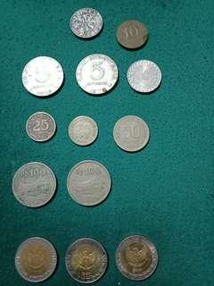 Jual beberapa coin uang kuno