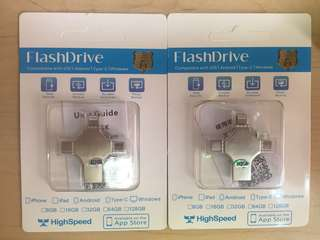BNIB Multifunction flash drive 512GB iOS android pc iphone Samsung
