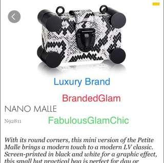 LV Louis Vuitton Phyton Nano Malle handbag. Limited Edition.