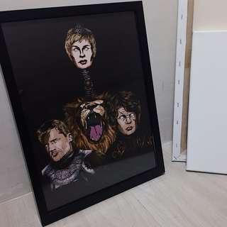 House Lannister Art Print