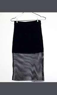 Forever 21 Black mesh skirt