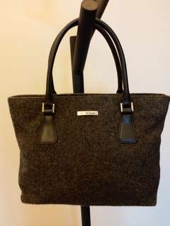 Missco by Hisakazu Takada Dark Grey Felt Handbag 深灰色絨毛全新手袋
