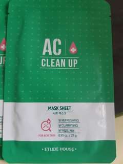 Sheetmask AC clean Up