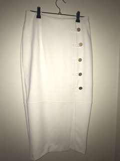 Sheike White Pencil Skirt