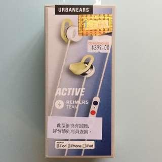 Urbanears Active reimers 瑞典設計 運動款 入耳式耳機
