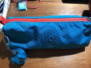 Free shipping/Kipling pencil case + free pencil case (authentic)