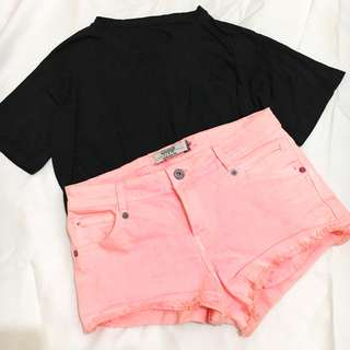 AVAILABLE! Salmon pink shorts