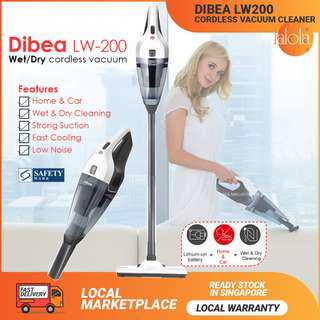✔FREE DELIVERY: Dibea LW200 Hand-held Cordless Vacuum Cleaner 💥 Wet & Dry Cleaner
