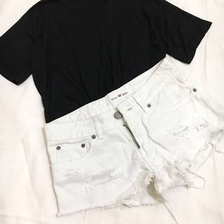 AVAILABLE!  True Love distressed shorts