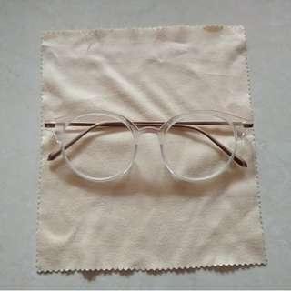 Frame kacamata bening + lensa