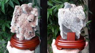 Quartz Cluster With Calcite