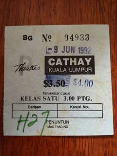 Antique Movie Ticket x1