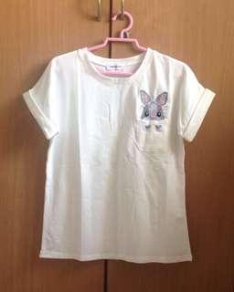 Korean style White T-shirt