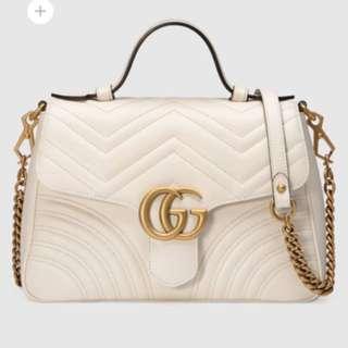 Gucci Marmont 白色 斜咩袋