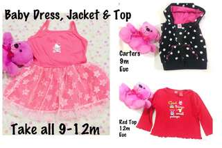 Take all Preloved Baby Dress,Jacket and Top