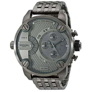 LITTLE DADDY CHRONOGRAPH GREY DIAL GREY ION-PLATED MEN'S WATCH DZ7263