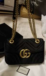 gucci velvet bag 22mm