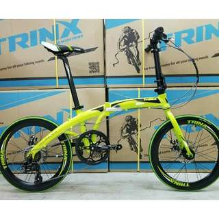 "TRINX Dolphin 2.0 : 20"" Foldable Aluminium Road Bike ★ Shimano 7 Speeds ✩ compact and light weight,  fits nicely into car boots! ✩ allowed on public transport: bus✓ MRT✓ ✩ Brand New Bicycle"