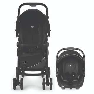 Joie Aire Step LX Travel System (Midnight)