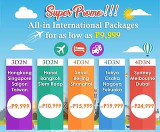 INTERNATIONAL PROMO TOUR PACKAGE