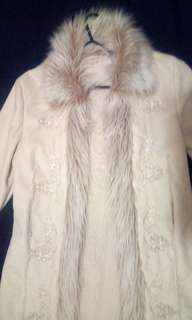 LARGE Tree of Life Beige Suede and Fur Coat As New only worn once no marks (too small for me)