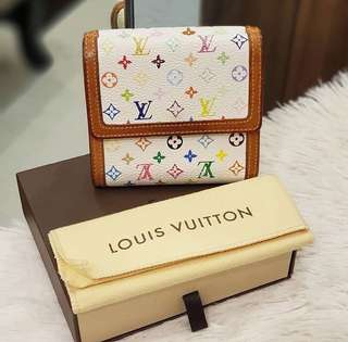 LV multicolor short wallet authentic