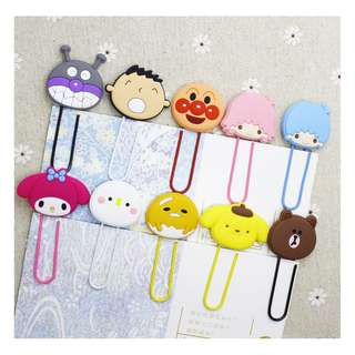 2 for $1.50 PAPER CLIP*BOOK CLIP*NOTE CLIP*HELLO KITTY*MY MELODY*LITTLE TWINS STAR*DISNEY*POOH BEAR