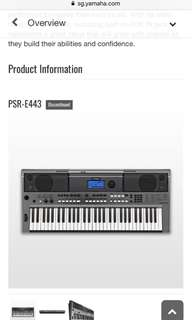 Yamaha PSR-E443 portable keyboard + stand