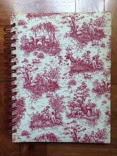 Vintage Journal Diary Notebook - beautiful cloth bound