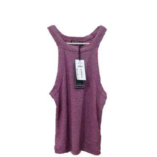 New:Cotton On knitted pink tank top