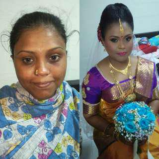 Bridal Makeup Hairdo Sareetying Services