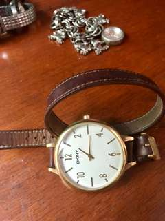 DKNY Leather watch