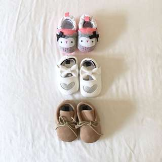 Baby Pre walker Shoes 3 pairs