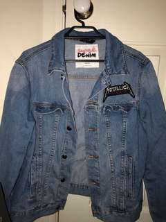Metallica denim jacket