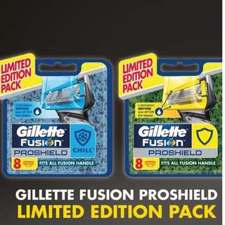 Gilette chill and prosheild new packaging