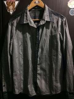Checkered Longsleeve Polo