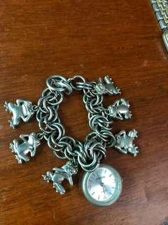 3 monkeys watch bracelet