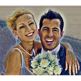 Make a Beautiful Portrait of Couple, Wedding Or Family Photo From Your Photo
