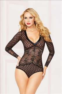 Gorgeous Lace Stretch Teddy with Gusset New with Tags