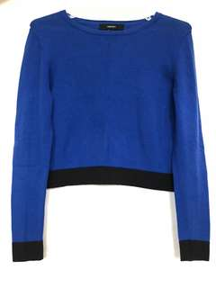 [FOREVER21] Blue cropped sweater