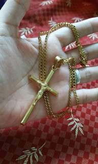 10k gold coated necklace