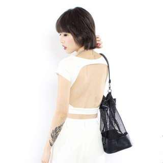 SexyBack YHF CROP TOP in white