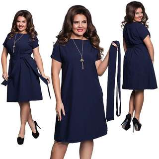 New dress dark blue(plus size)